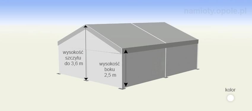 namioty magazynowe - 6,0m x 12,0m - wysokość szczytu 3,6 m